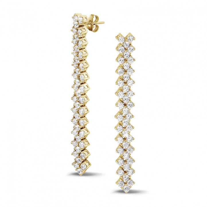 5.80 克拉黄金钻石编织纹耳钉