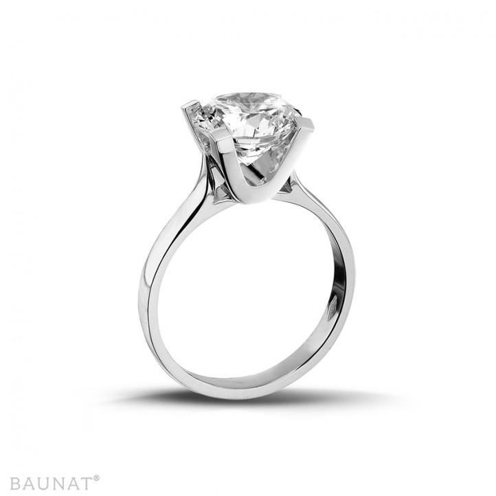 2.00克拉白金戒指,镶有品质卓越的圆钻(D-IF-EX)