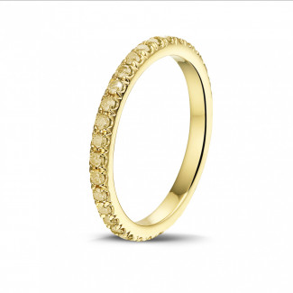 钻石戒指 - 0.55克拉黄金黄钻婚戒(满镶)