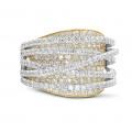 3.50克拉白金与黄金圆形钻石戒指