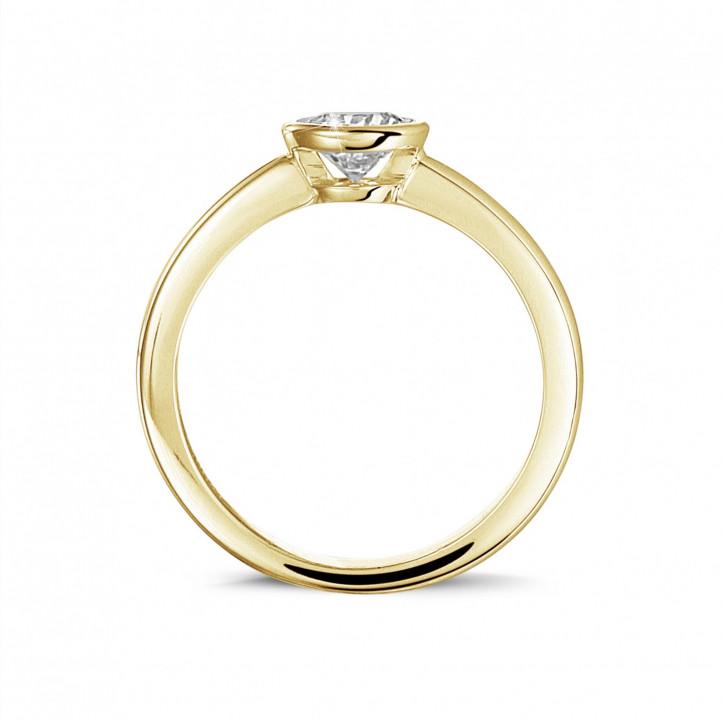 0.50克拉圆形黄金单钻戒指