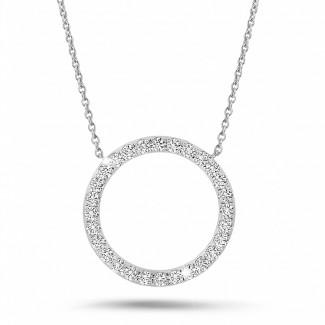 钻石项链 - 0.54克拉白金永恒满钻项链