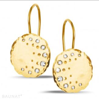 黄金钻石耳环 - 设计系列0.26克拉黄金钻石耳环