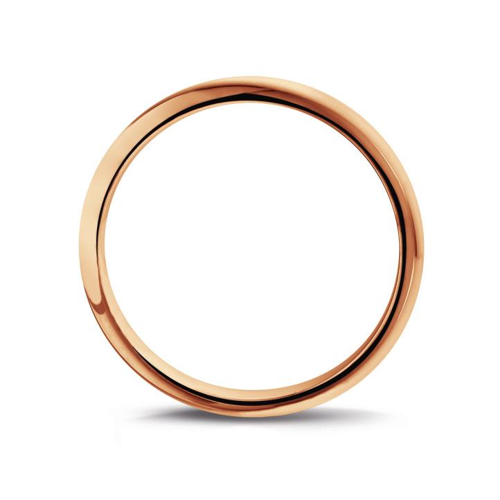 男士玫瑰金戒指 宽度为3.00 毫米