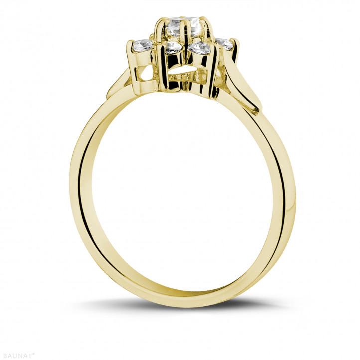 花之恋0.50克拉黄金钻石戒指